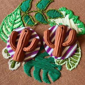 🌵 Cactus Polymer Clay Earrings 🌵